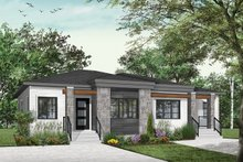 Contemporary Exterior - Front Elevation Plan #23-2720