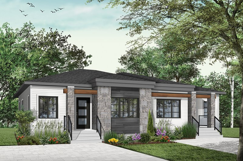 House Plan Design - Contemporary Exterior - Front Elevation Plan #23-2720