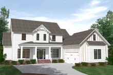 Dream House Plan - Farmhouse Exterior - Front Elevation Plan #1071-8