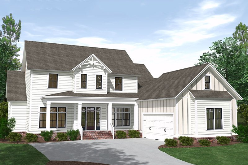 Architectural House Design - Farmhouse Exterior - Front Elevation Plan #1071-8