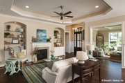 European Style House Plan - 4 Beds 3 Baths 2195 Sq/Ft Plan #929-958 Interior - Family Room