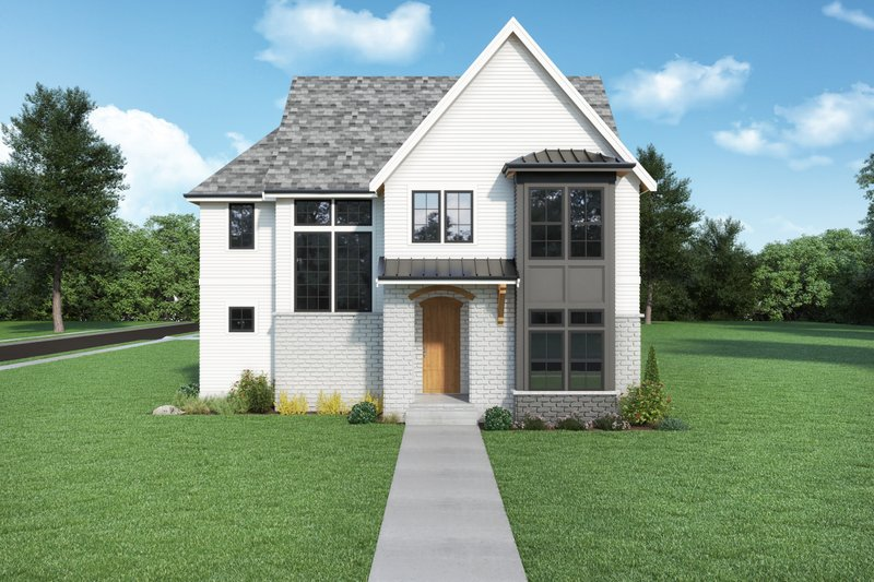 Home Plan - Farmhouse Exterior - Front Elevation Plan #1070-137