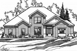 House Design - Traditional Exterior - Front Elevation Plan #31-129