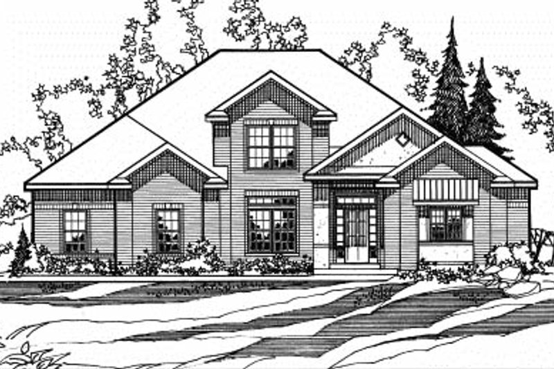 Architectural House Design - Traditional Exterior - Front Elevation Plan #31-129