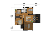 Cottage Style House Plan - 4 Beds 2 Baths 1878 Sq/Ft Plan #25-4922