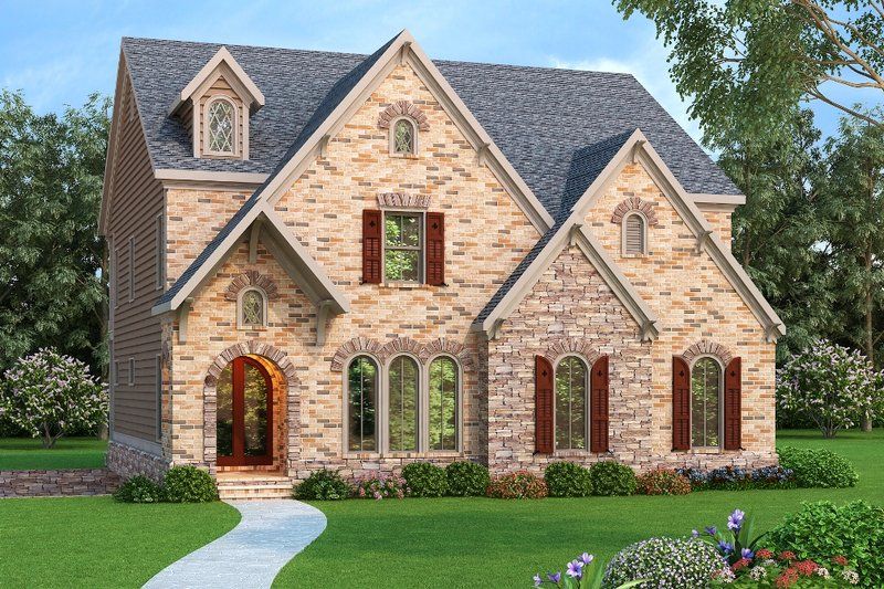 Dream House Plan - European Exterior - Front Elevation Plan #419-248