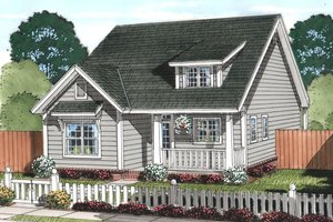 Cottage Exterior - Front Elevation Plan #513-2078