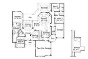 European Style House Plan - 3 Beds 3 Baths 2857 Sq/Ft Plan #411-476 Floor Plan - Main Floor