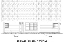 Home Plan - Traditional Exterior - Rear Elevation Plan #513-2189