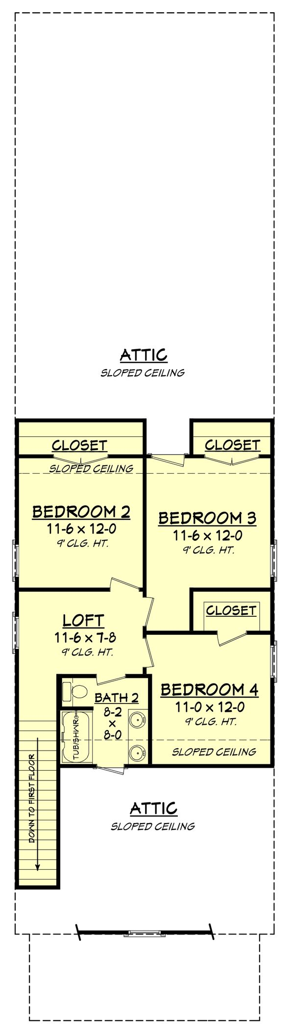 Cottage Floor Plan - Upper Floor Plan #430-117