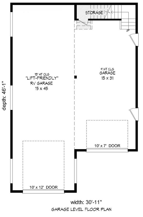 Country Floor Plan - Lower Floor Plan Plan #932-74