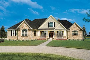Country Exterior - Front Elevation Plan #929-13