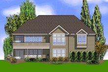 Dream House Plan - European Exterior - Rear Elevation Plan #48-428