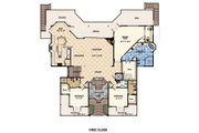 Beach Style House Plan - 3 Beds 4 Baths 4521 Sq/Ft Plan #548-10 Floor Plan - Main Floor Plan