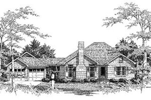 Traditional Exterior - Front Elevation Plan #41-117