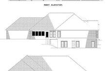 House Plan Design - Traditional Exterior - Rear Elevation Plan #17-1014