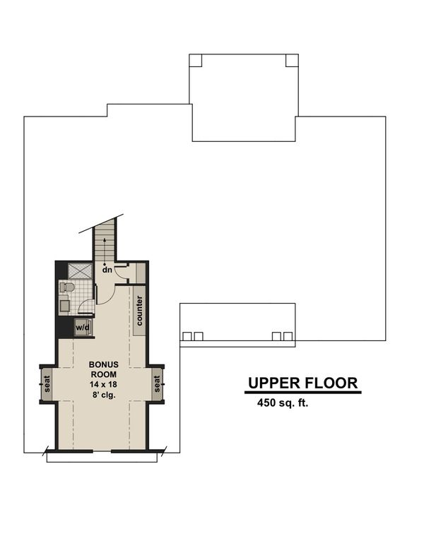Craftsman Floor Plan - Upper Floor Plan Plan #51-584