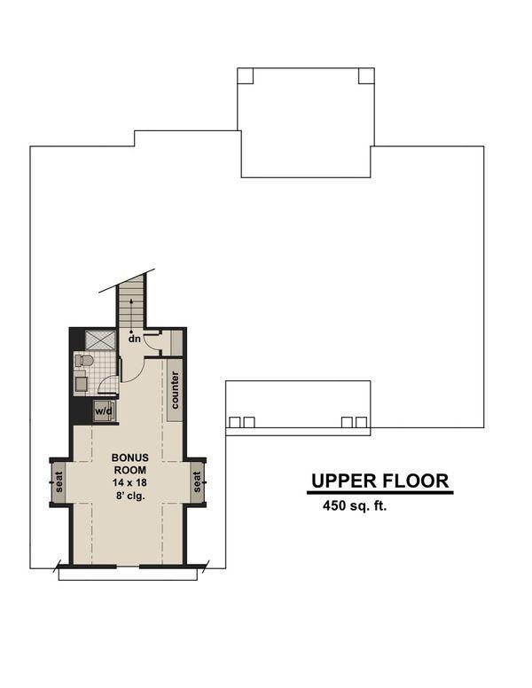Craftsman Floor Plan - Upper Floor Plan #51-584