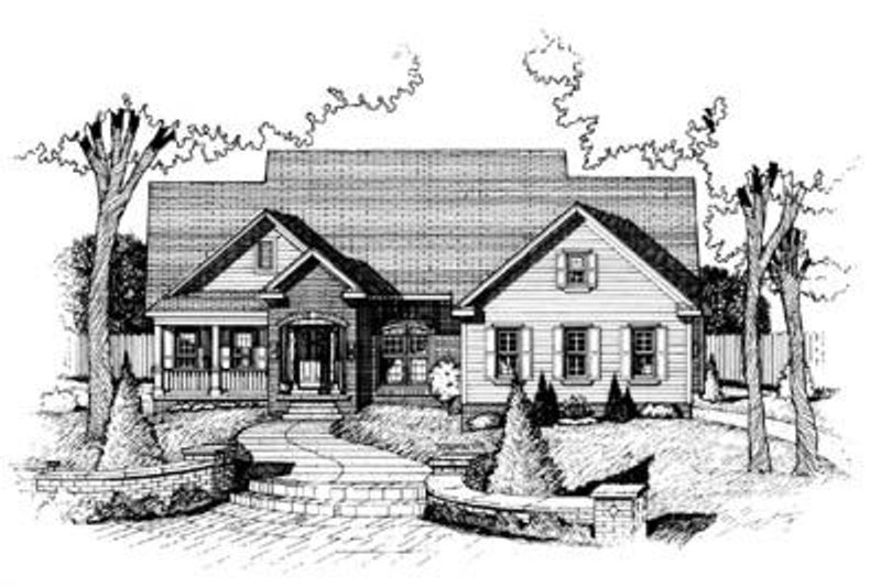 Traditional Exterior - Front Elevation Plan #20-798