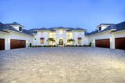 Contemporary Style House Plan - 4 Beds 4.5 Baths 4943 Sq/Ft Plan #930-512 Exterior - Front Elevation
