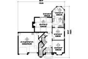 European Style House Plan - 3 Beds 1 Baths 2423 Sq/Ft Plan #25-4797