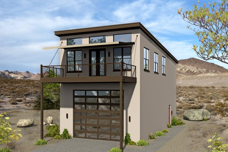 Contemporary Style House Plan - 3 Beds 2 Baths 1400 Sq/Ft Plan #932-178