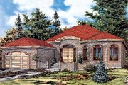 European Style House Plan - 2 Beds 1.5 Baths 1767 Sq/Ft Plan #138-183 Exterior - Front Elevation