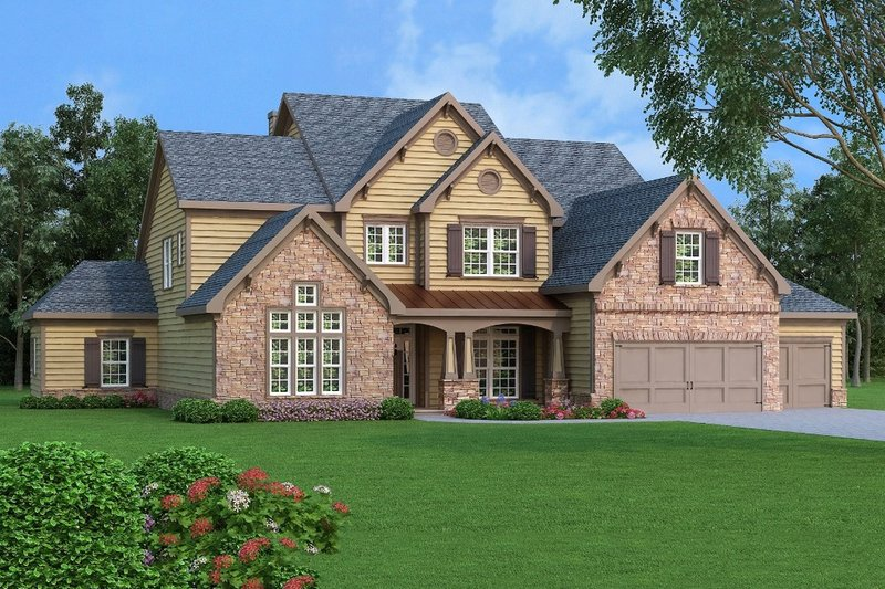 Traditional Exterior - Front Elevation Plan #419-274 - Houseplans.com