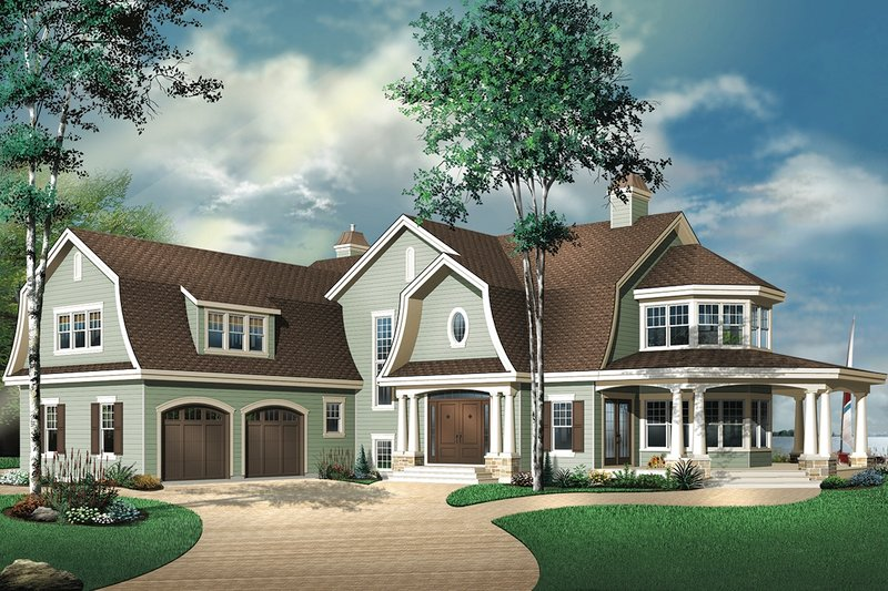 Country Exterior - Front Elevation Plan #23-414
