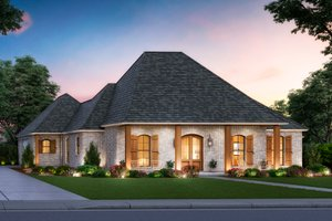 House Plan Design - Southern Exterior - Front Elevation Plan #1074-35