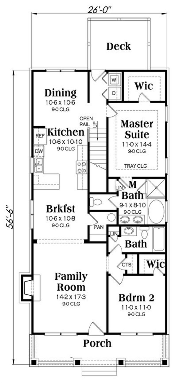 Bungalow house plan Craftsman floor plan