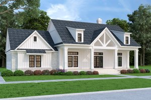 Architectural House Design - Farmhouse Exterior - Front Elevation Plan #45-584