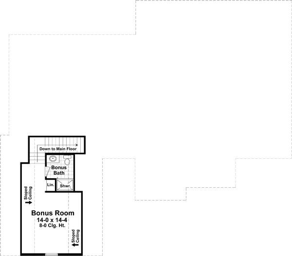 Craftsman Floor Plan - Upper Floor Plan Plan #21-370