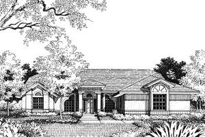 Mediterranean Exterior - Front Elevation Plan #417-149