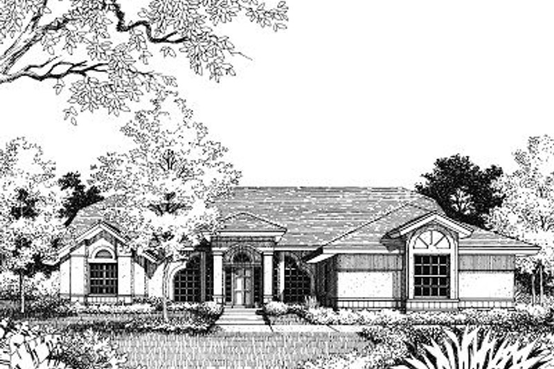 Mediterranean Exterior - Front Elevation Plan #417-149 - Houseplans.com