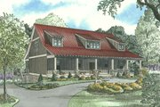 Country Style House Plan - 5 Beds 3 Baths 2704 Sq/Ft Plan #17-2512 Exterior - Other Elevation