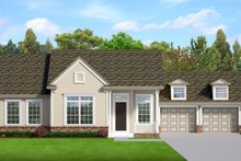 House Blueprint - Ranch Exterior - Front Elevation Plan #1058-183