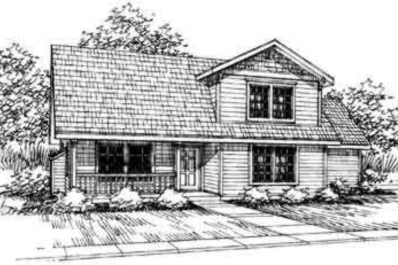 Farmhouse Exterior - Front Elevation Plan #124-308 - Houseplans.com