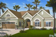 Dream House Plan - Mediterranean Exterior - Front Elevation Plan #23-2213