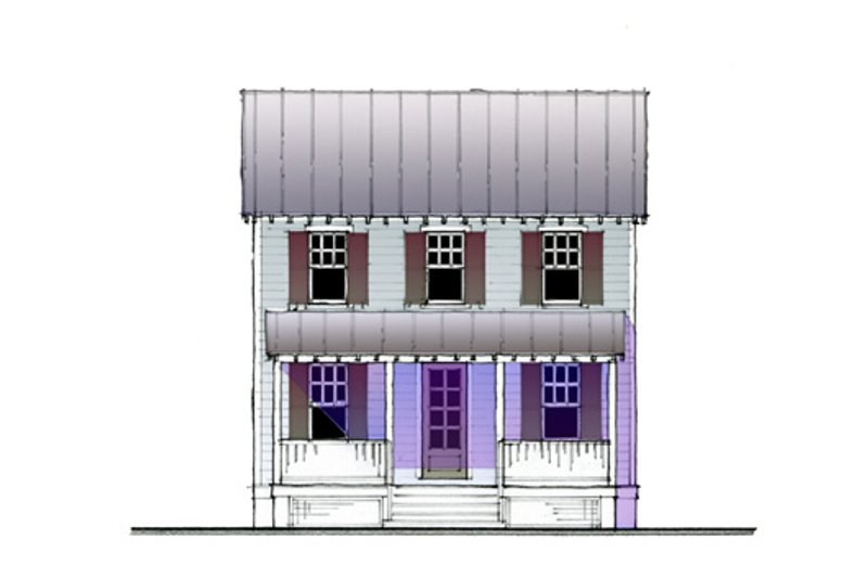 Cottage Style House Plan - 3 Beds 2 Baths 1200 Sq/Ft Plan #514-18 Exterior - Other Elevation