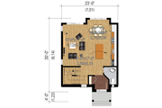 Contemporary Style House Plan - 2 Beds 1 Baths 1247 Sq/Ft Plan #25-4434 Floor Plan - Main Floor