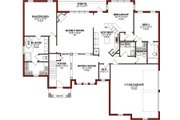 Traditional Style House Plan - 4 Beds 4.5 Baths 2780 Sq/Ft Plan #63-206 Floor Plan - Main Floor Plan