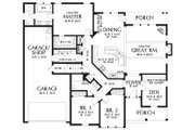 Craftsman Style House Plan - 3 Beds 2 Baths 2054 Sq/Ft Plan #48-956 Floor Plan - Main Floor