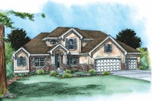 Dream House Plan - Traditional Exterior - Front Elevation Plan #20-1788