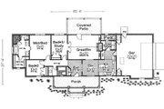 Ranch Style House Plan - 3 Beds 2.5 Baths 1562 Sq/Ft Plan #310-603 Floor Plan - Main Floor