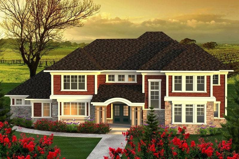 Traditional Exterior - Front Elevation Plan #70-1184 - Houseplans.com