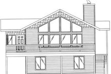Dream House Plan - Traditional Exterior - Rear Elevation Plan #117-324