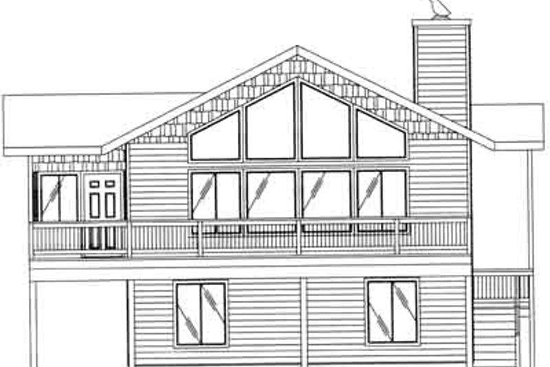 Traditional Exterior - Rear Elevation Plan #117-324 - Houseplans.com