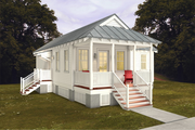 Cottage Style House Plan - 2 Beds 2 Baths 832 Sq/Ft Plan #514-20 Exterior - Other Elevation