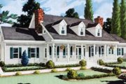 Southern Style House Plan - 5 Beds 3.5 Baths 2705 Sq/Ft Plan #3-102 Exterior - Front Elevation
